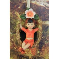 enfant elfe coccinelle