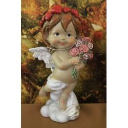 ange au bouquet de fleurs.