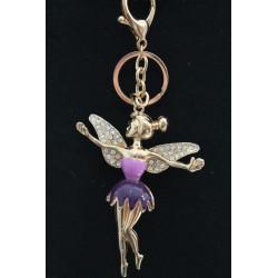 Porte clefs en fer fée violette.